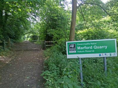 Marford quarry sign