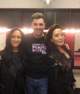 Ryan Swain with Karen Parry and Kelly Llorenna