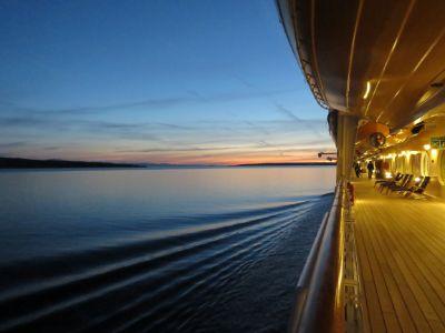Cruise ship calm sea
