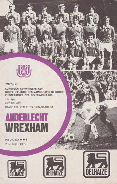 Wrexham AFC vs Anderlecht programme