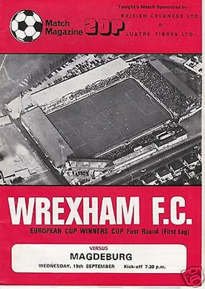 Wrexham AFC vs Magedburg programme