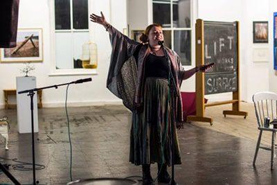 Natasha Borton performing