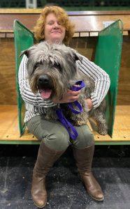 Karen Boyce with dog
