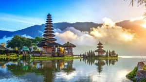 Stunning Shot of A Balinese Temple