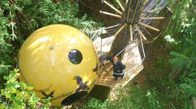 World's quirkiest hotels: Free Spirit Spheres