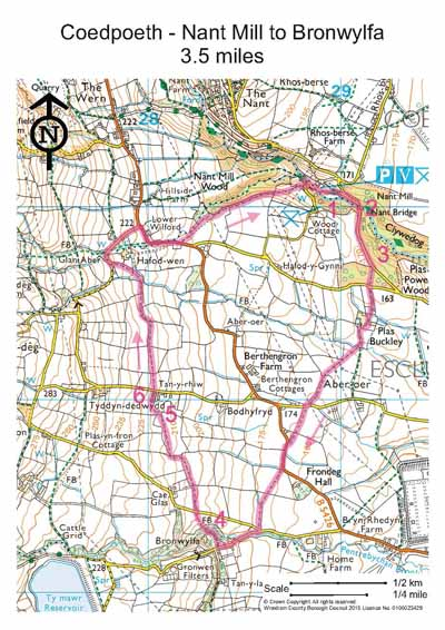 Nant Mill walk map