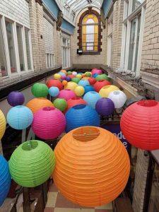Central Arcade Wrexham lanterns