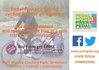 Groundwork advert June 2021 Pedal Power