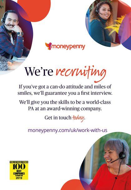 Moneypenny advert May 2021
