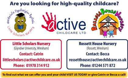 Active Childcare advert